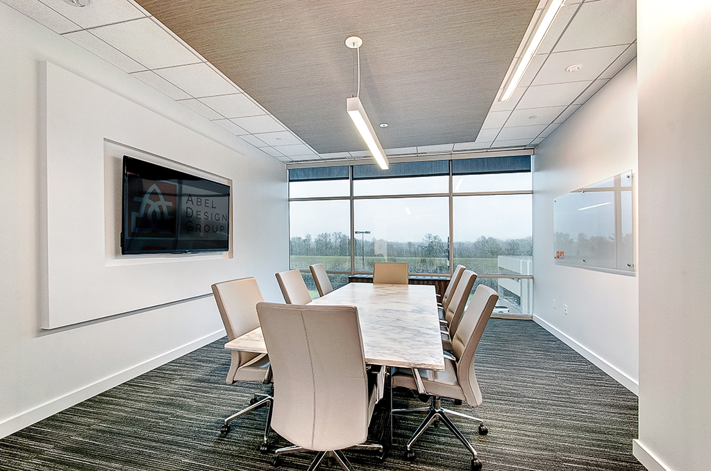 Corporate Interior Design IPT Global Houston Light Modern Conference Room