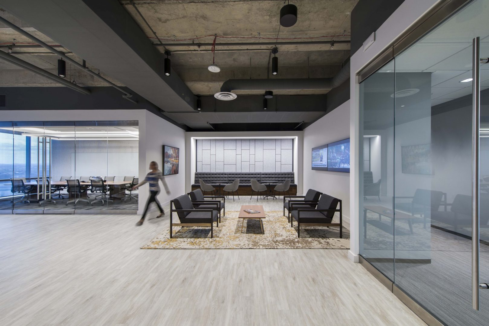 Investment Management Company Denver Corporate Interior Design Event Space Lobby