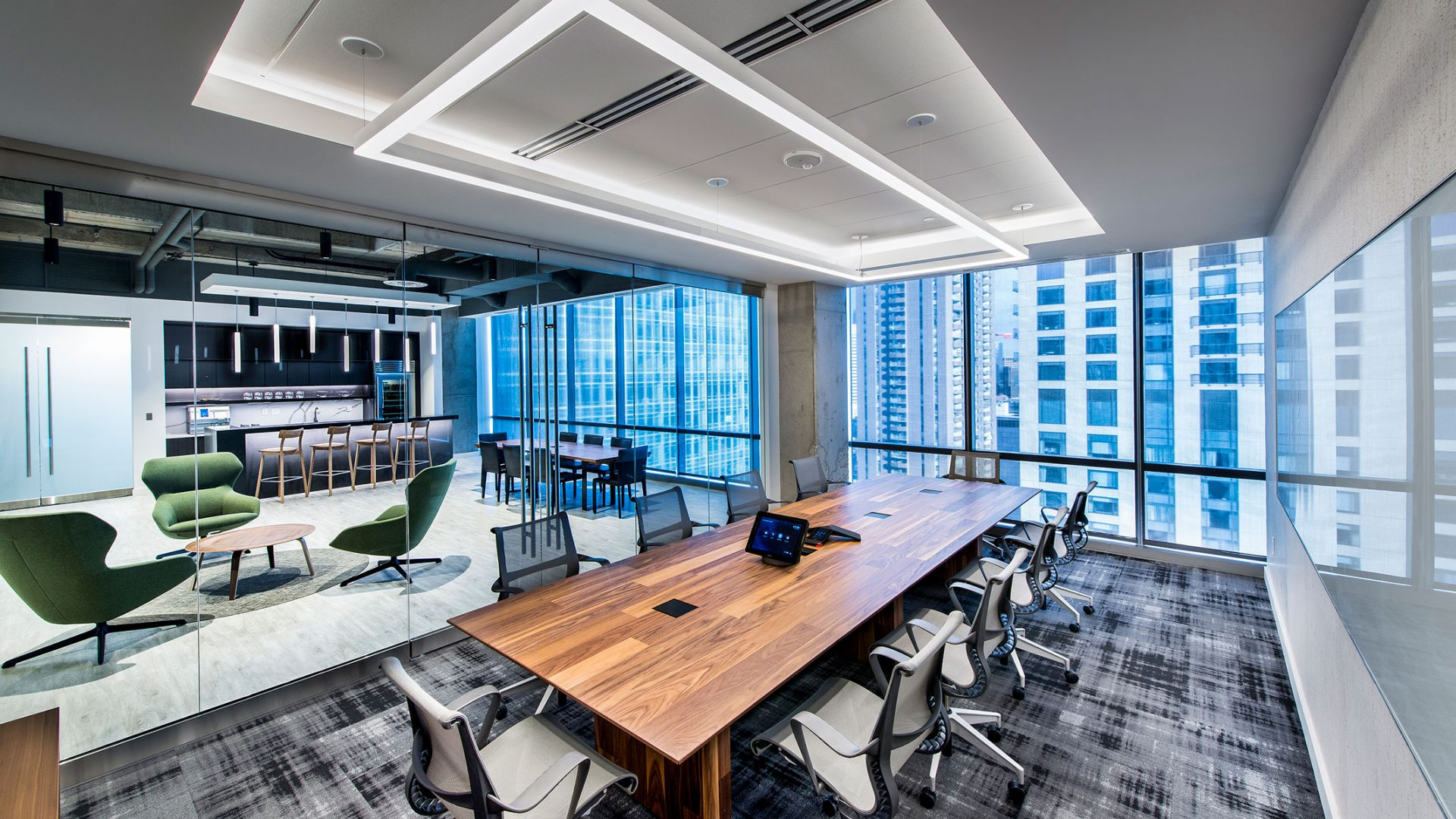 Investment Management Company Denver Corporate Interior Design Conference Room Table