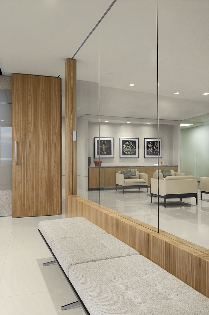 Corporate Interior Design JLT Houston Conference Room Bench Seating