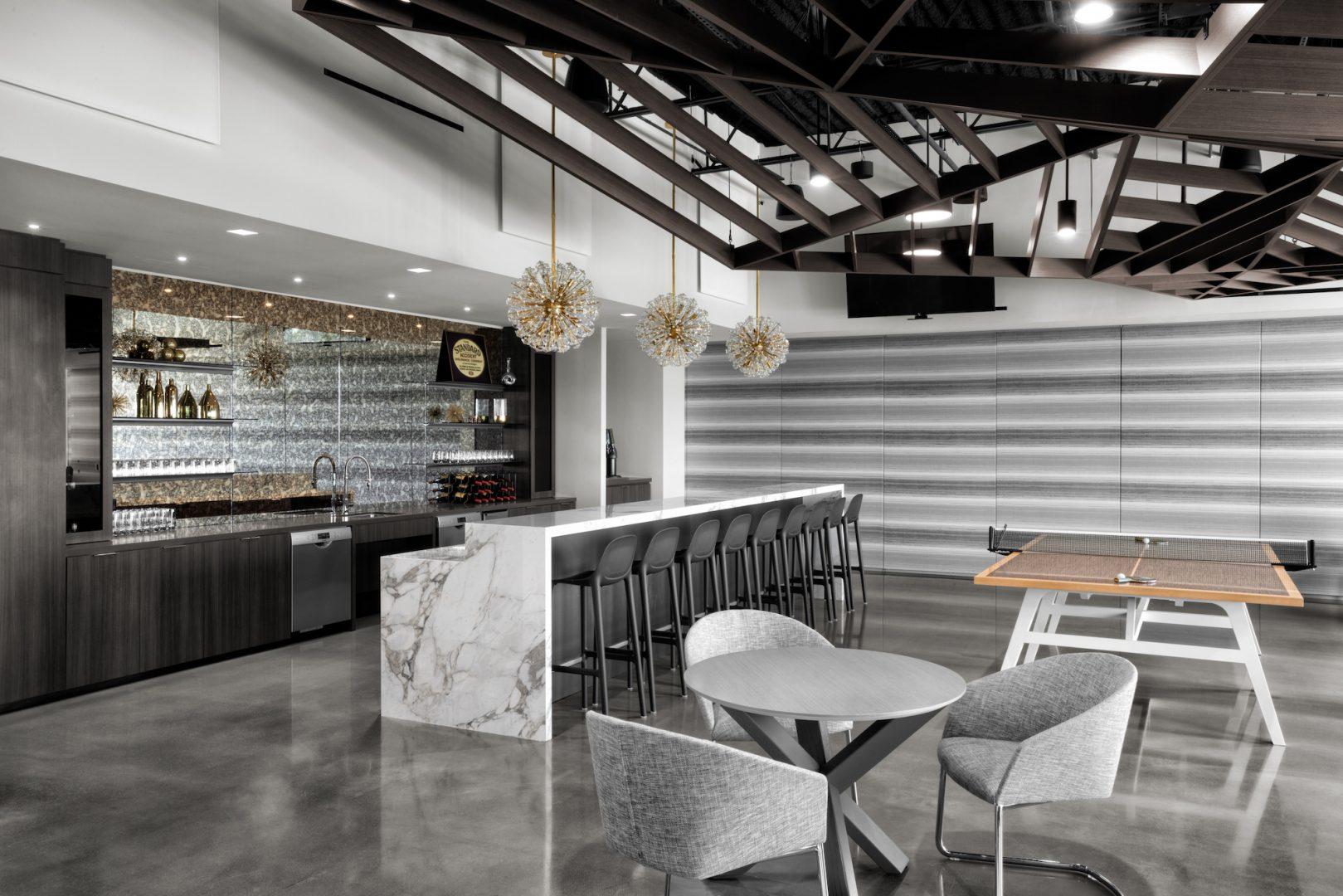Corporate Interior Design Lockton Houston Breakout Bar and Seating