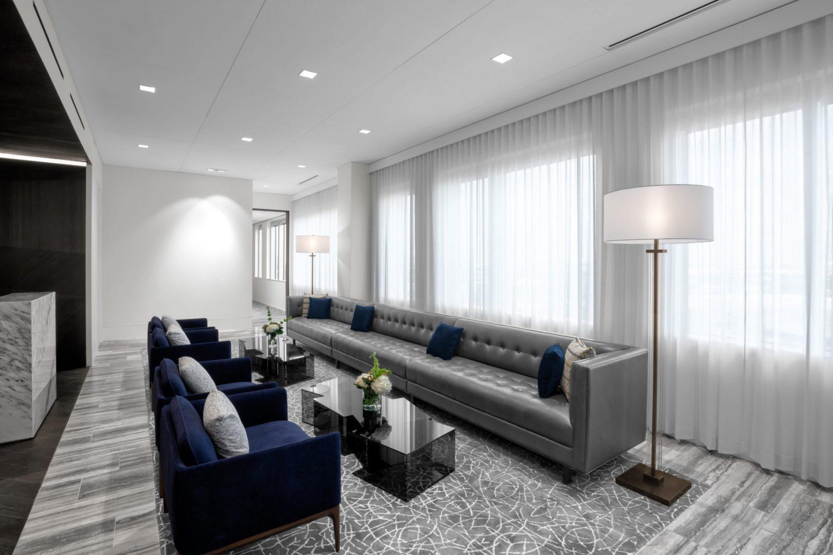 Corporate Interior Design Lockton Houston Seating Area