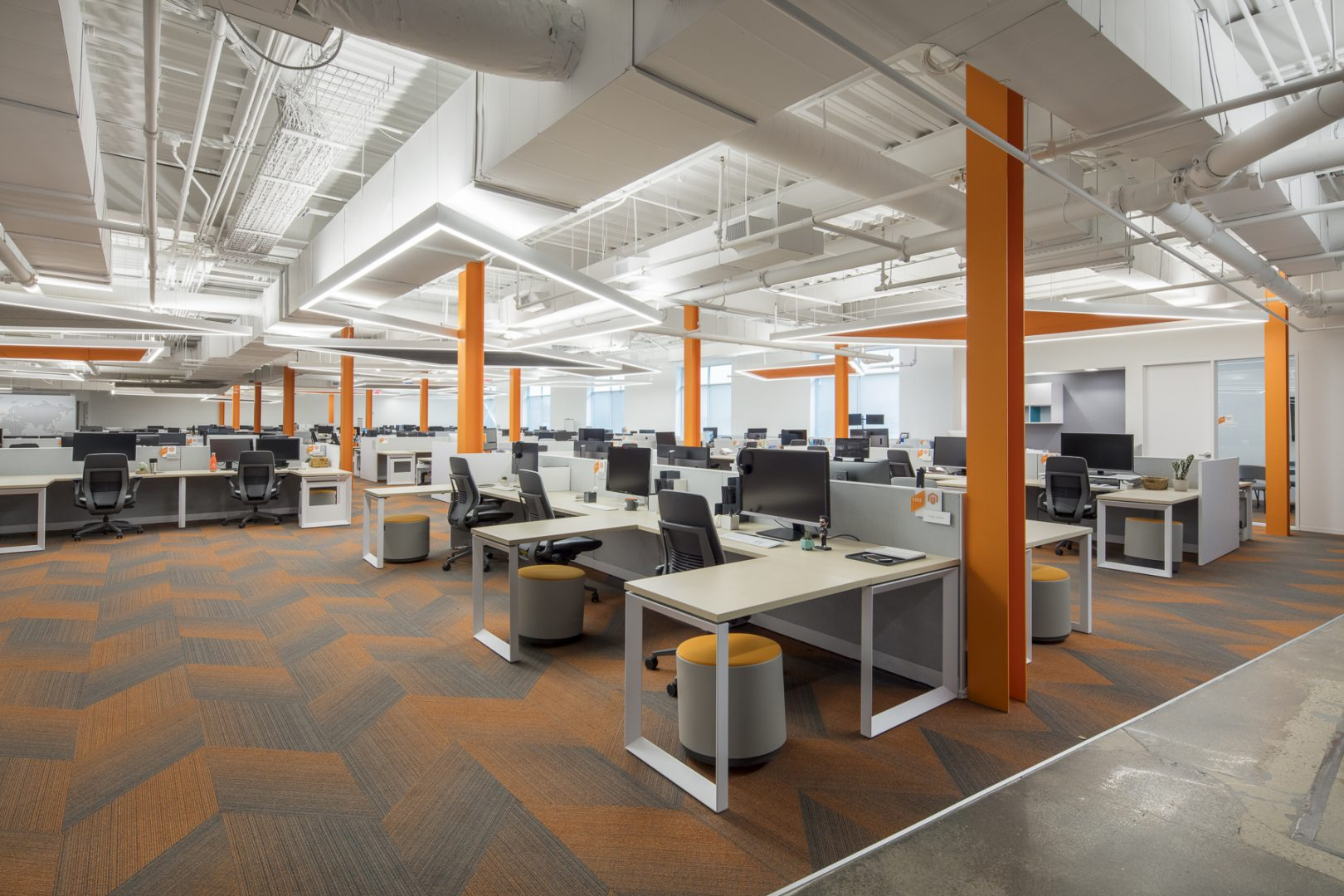 Corporate Technology Interior Design Magento Austin Open Workstations