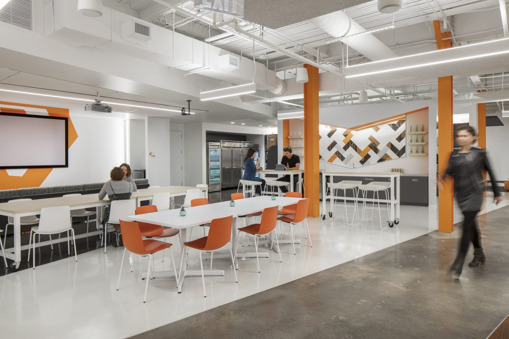 Corporate Technology Interior Design Magento Austin Brearkroom Seating Options
