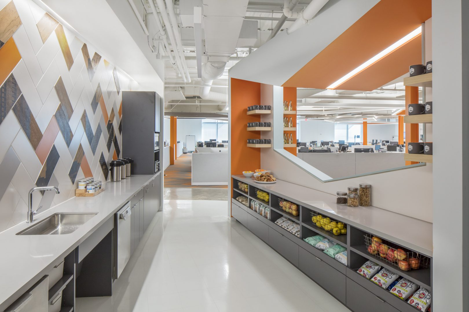 Corporate Technology Interior Design Magento Austin Breakroom Healthy Snack Bar