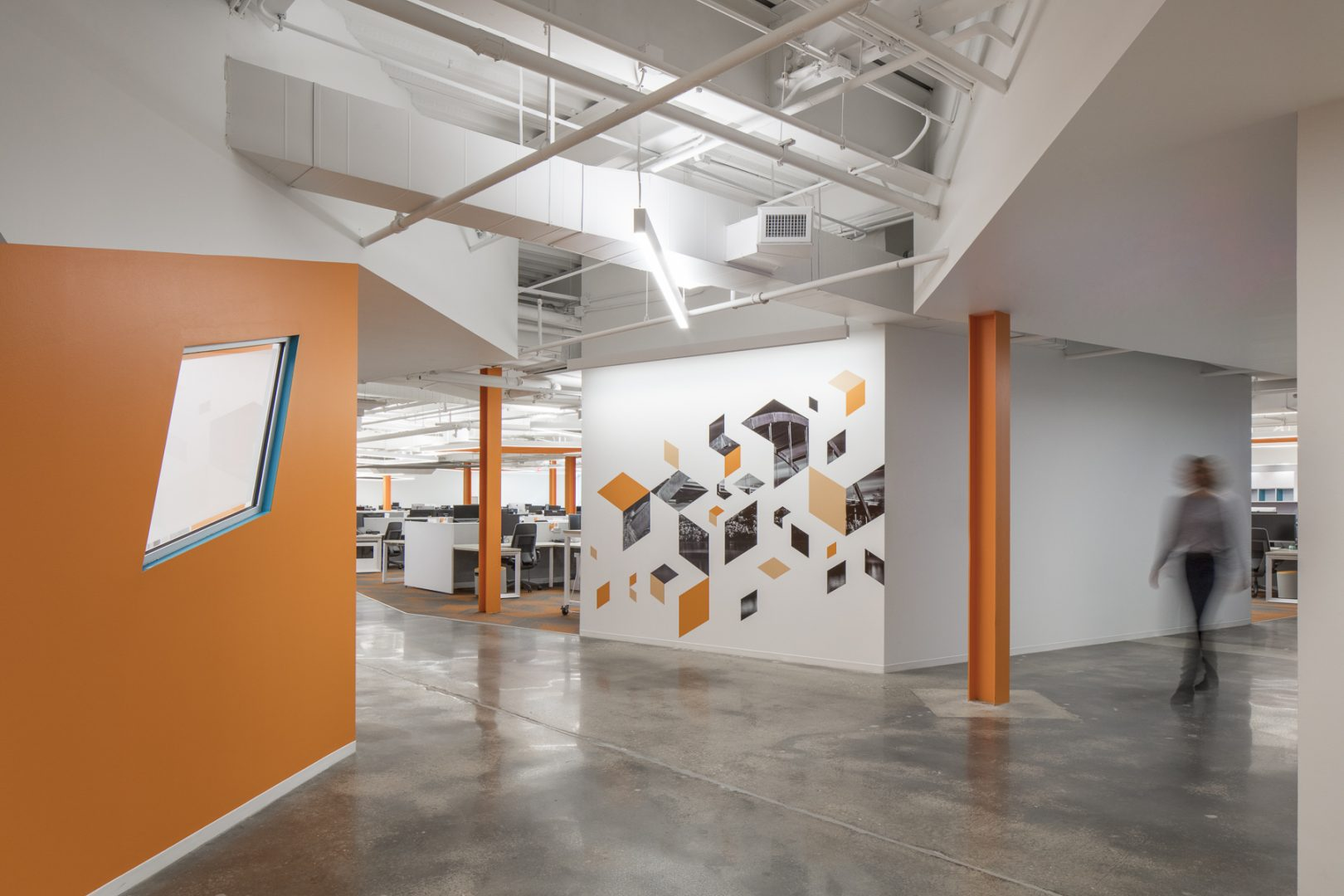 Corporate Technology Interior Design Magento Austin Polished Concrete Floors Graphic Walls