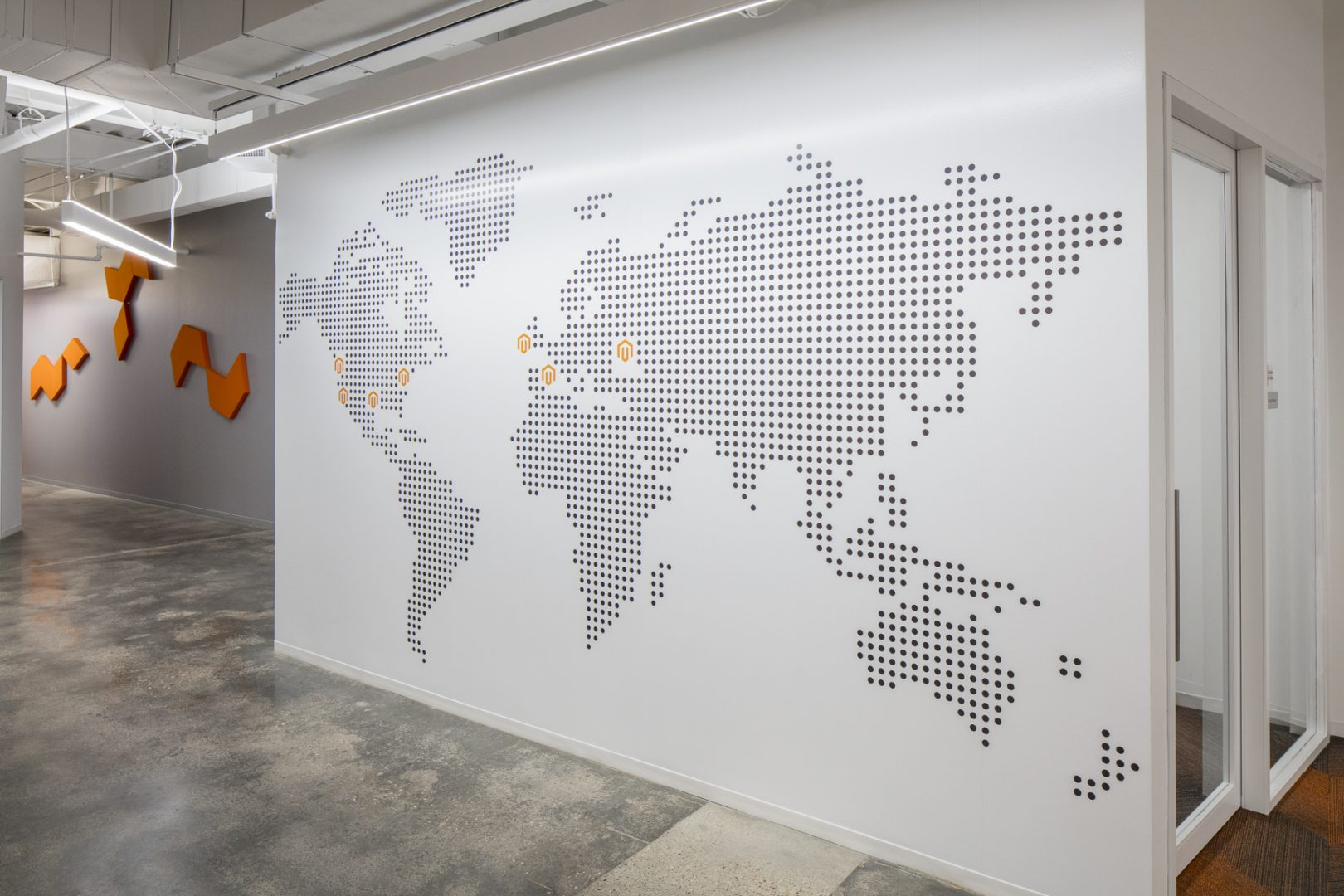 Corporate Technology Interior Design Magento Austin Graphics Map Locations