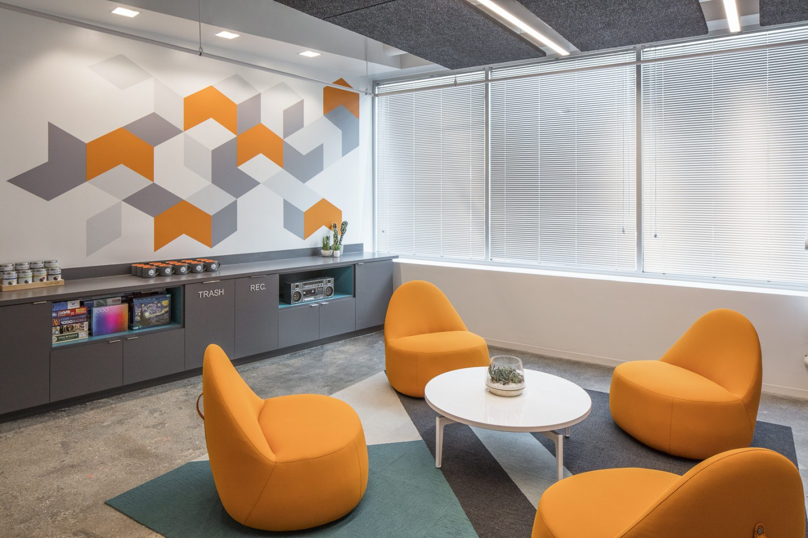 Corporate Technology Interior Design Magento Austin Breakout Seating Area