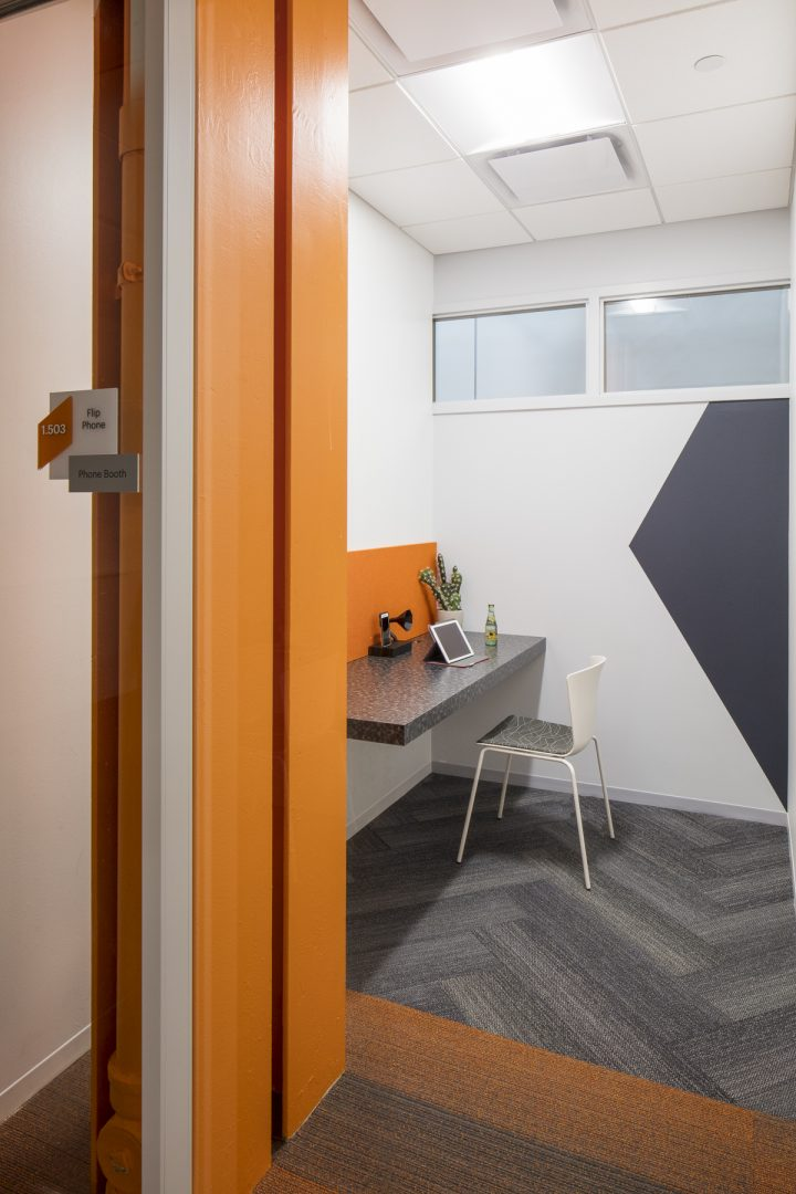 Corporate Technology Interior Design Magento Austin Private Phone Room