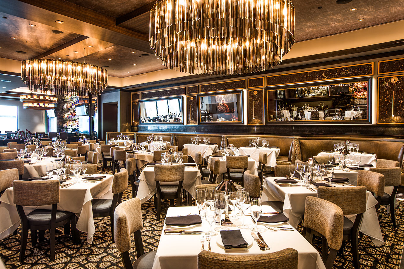 Restaurant Hospitality Interior Design Mastro's Houston Post Oak Main Dining Area