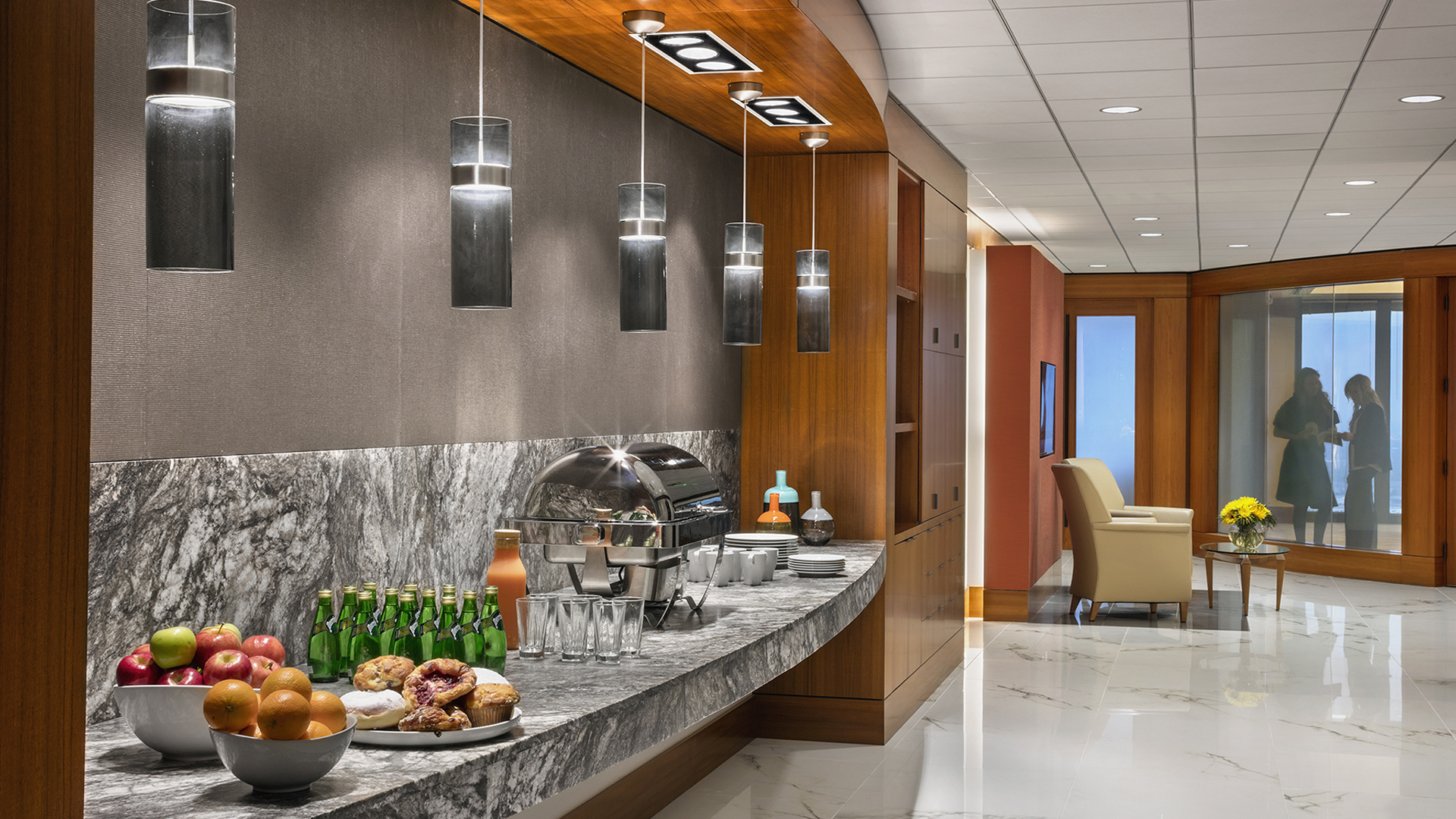 Corporate Law Interior Design Mayer Brown Houston Refreshment Hospitality Self-Service Bar Entertainment Space