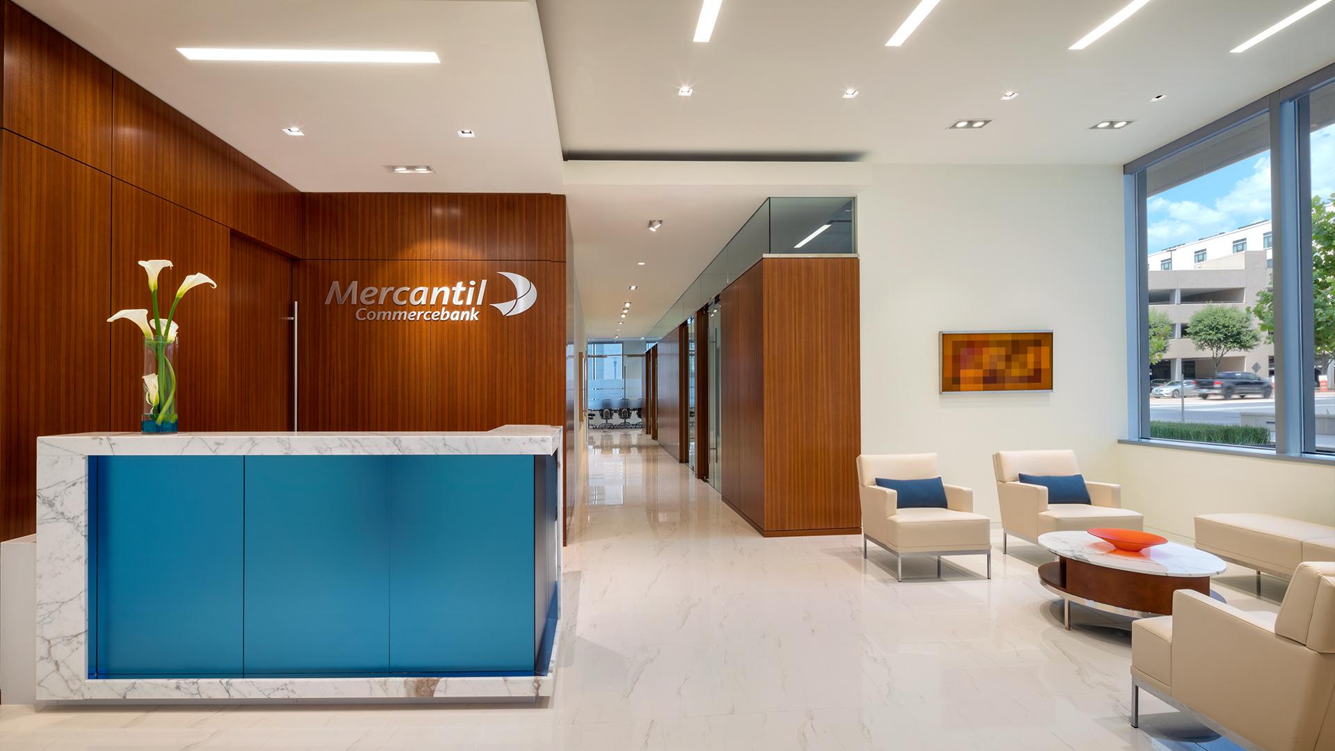 Financial Retail Interior Design Mercantil Commercebank Champions Louetta Reception Lobby