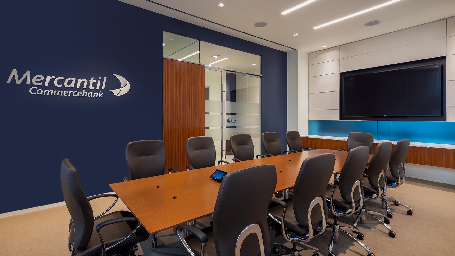 Financial Retail Interior Design Mercantil Commercebank Champions Louetta Conference Room