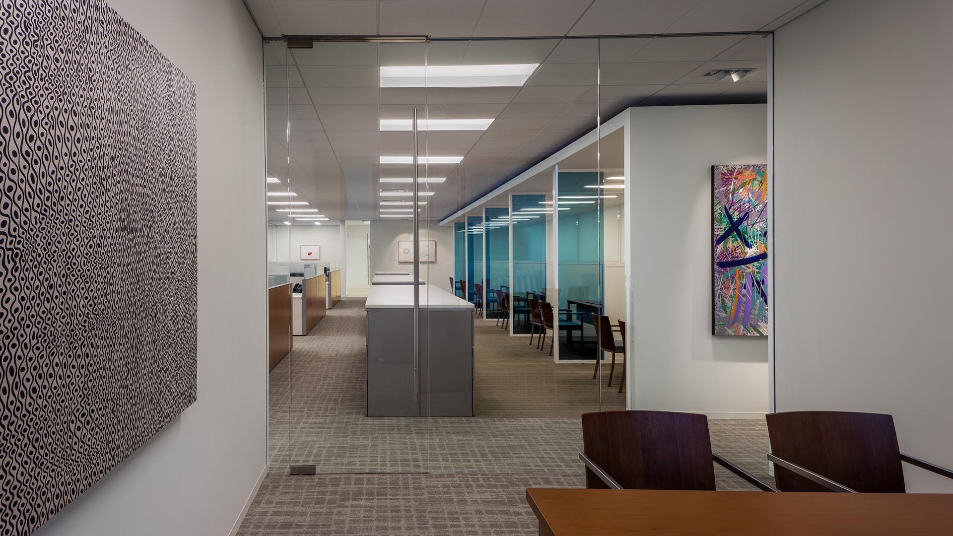 Financial Retail Interior Design Mercantil Commercebank Champions Louetta Conference Room Art work