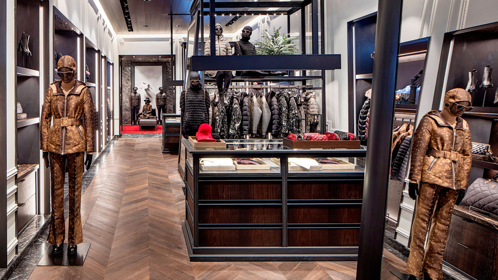 Commercial Retail Interior Design Moncler Houston Floor Display Island