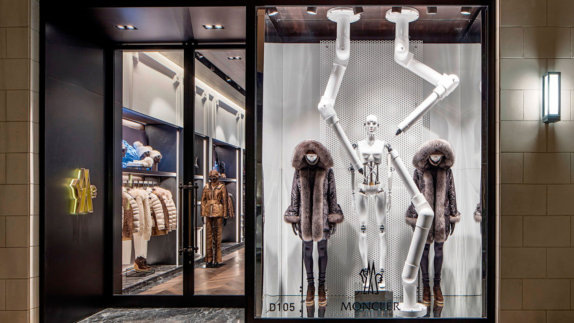 Commercial Retail Interior Design Moncler Houston Storefront Facade
