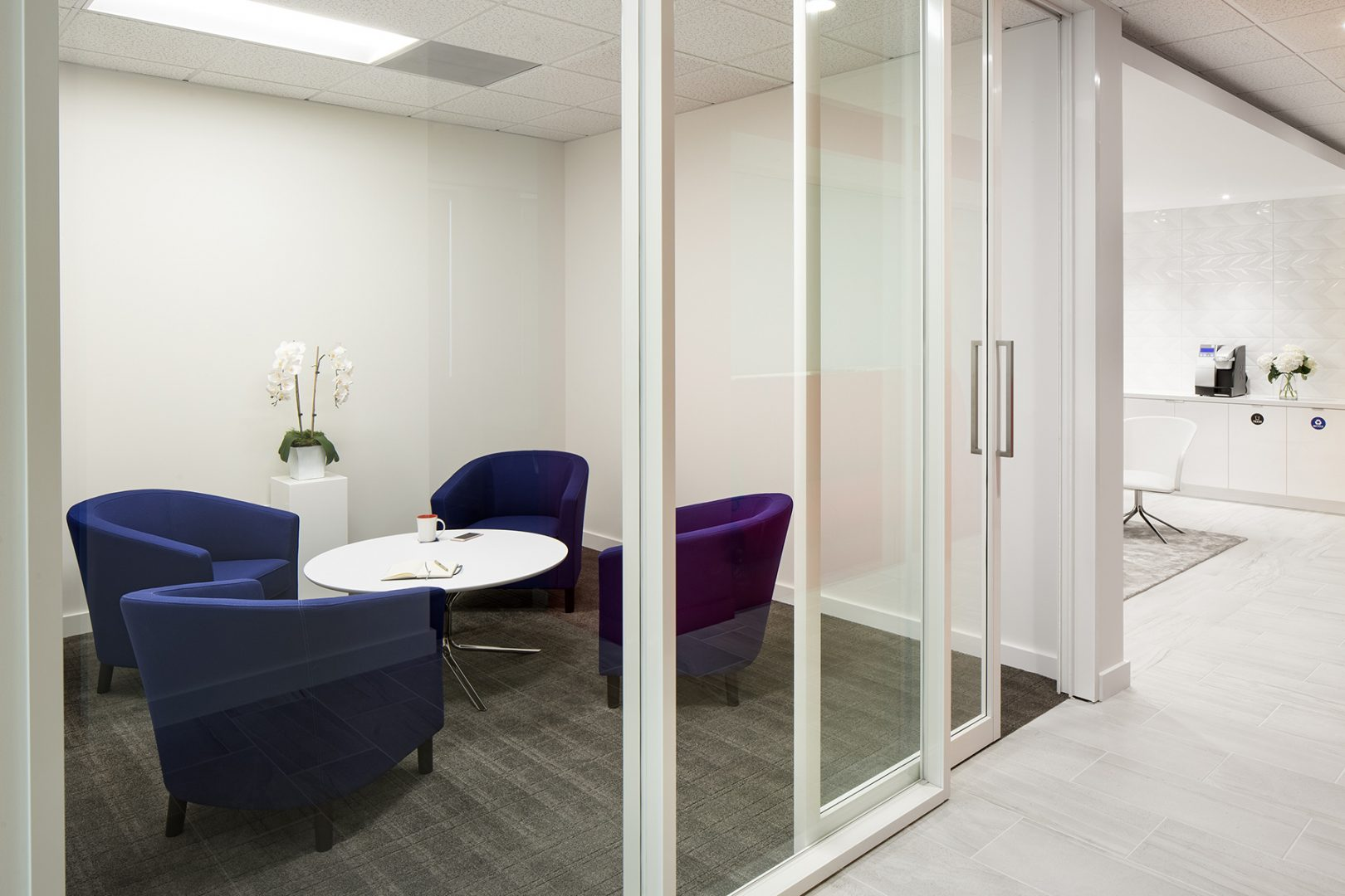 Corporate Interior Law Design McFarland Houston huddle room