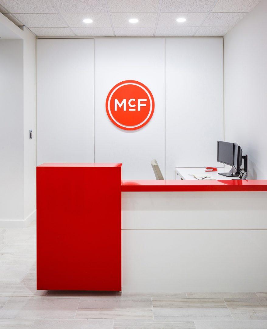 Corporate Interior Law Design McFarland Houston Reception Desk
