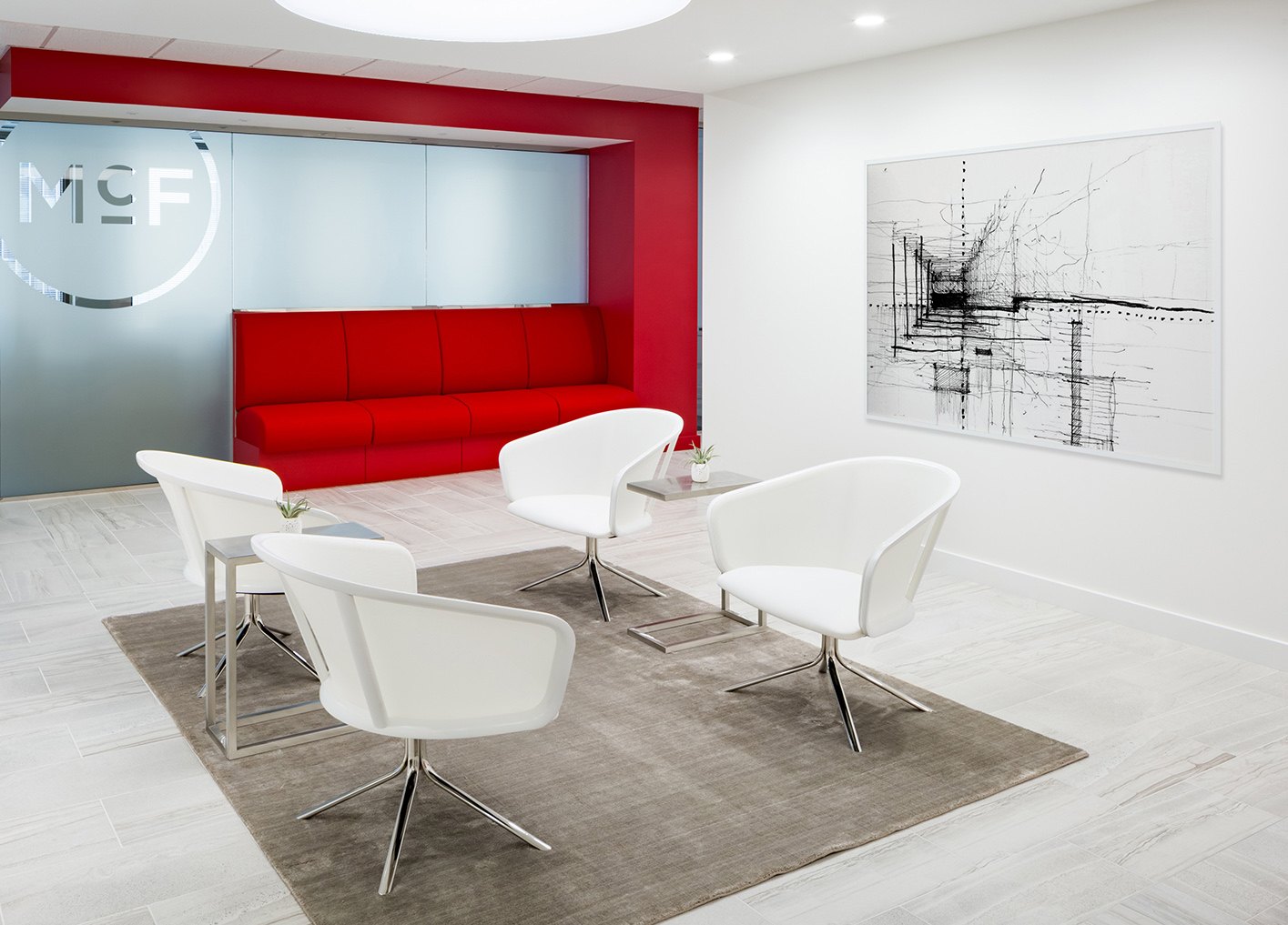 Corporate Interior Law Design McFarland Houston Reception Lobby Seating