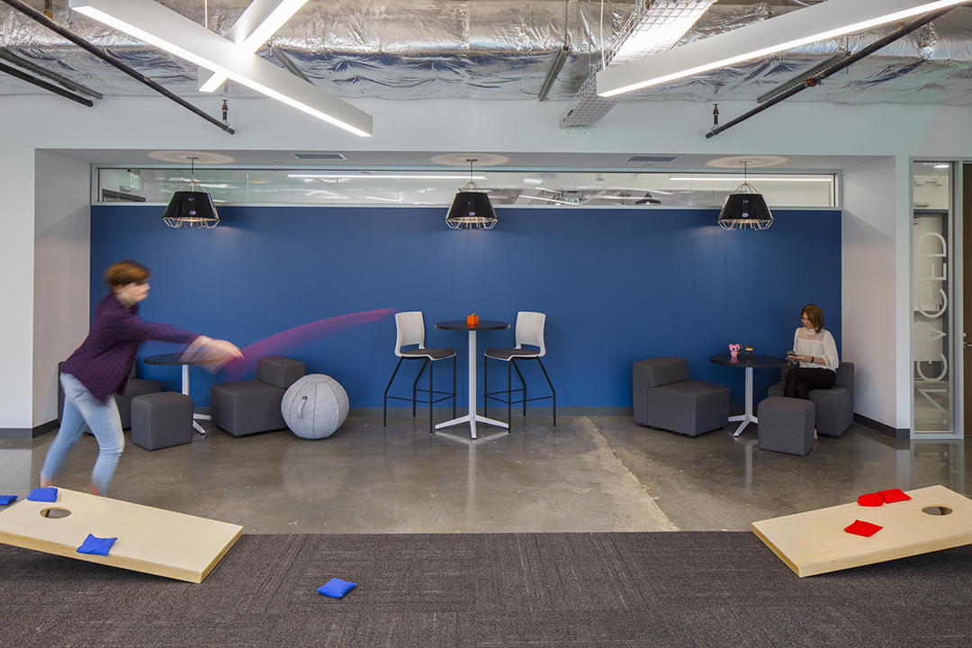 Corporate Interior Design Insurance Company Austin Breakout Space