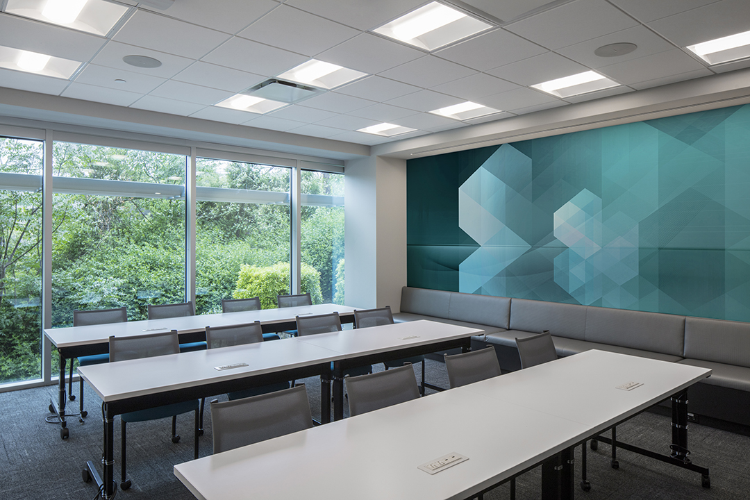 Corporate Interior Design Insurance Company Austin Training Room