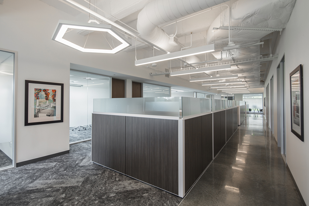 Corporate Interior Design Insurance Company Austin Open Workstations