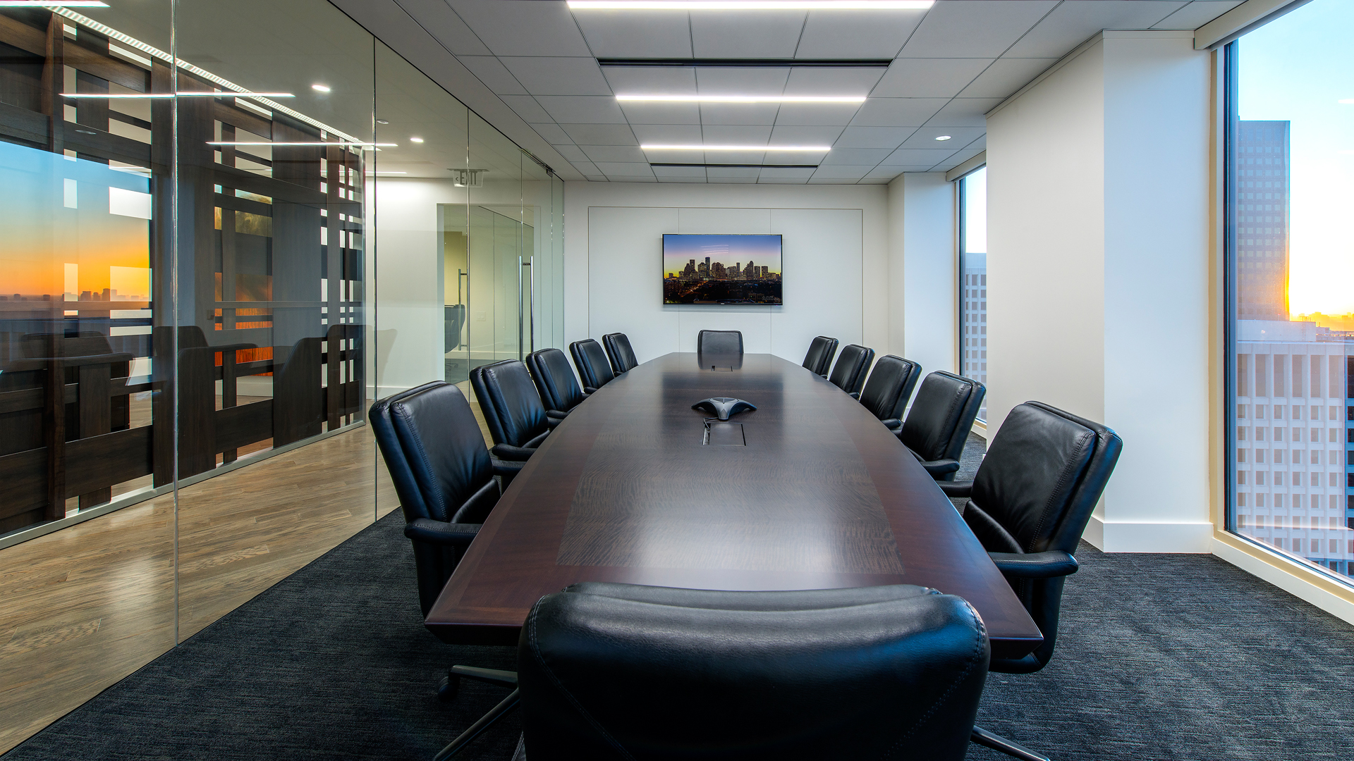 LawFirm Interior Design Reynolds Frizzell Houston Meeting Room