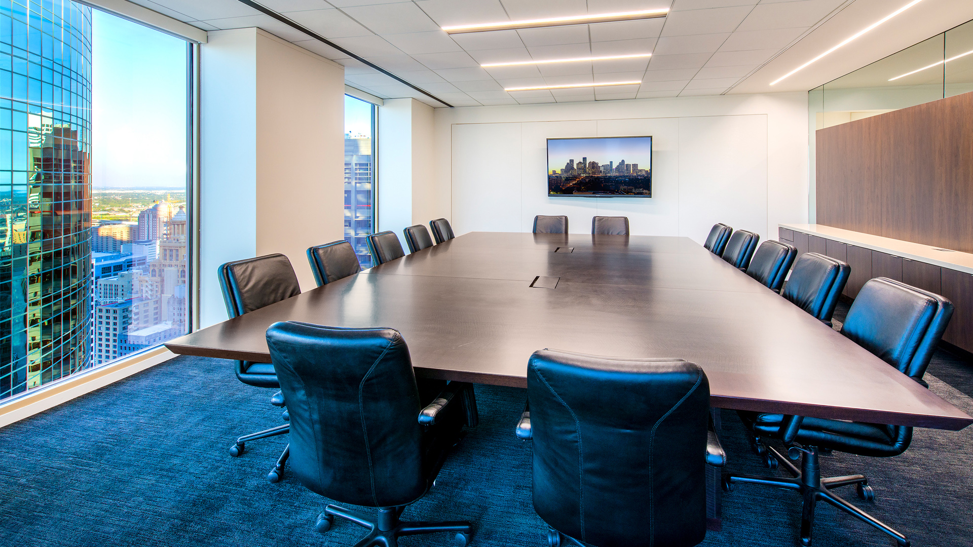 LawFirm Interior Design Reynolds Frizzell Houston Prime Downtown Views Conference Room