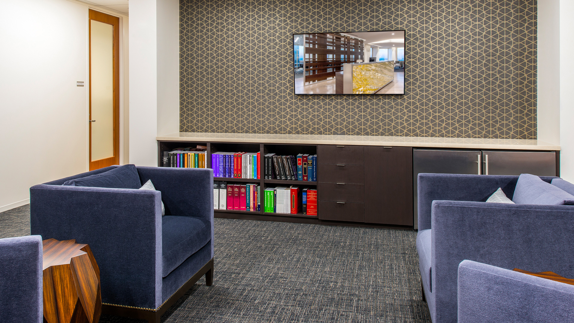 LawFirm Interior Design Reynolds Frizzell Houston Library Lounge
