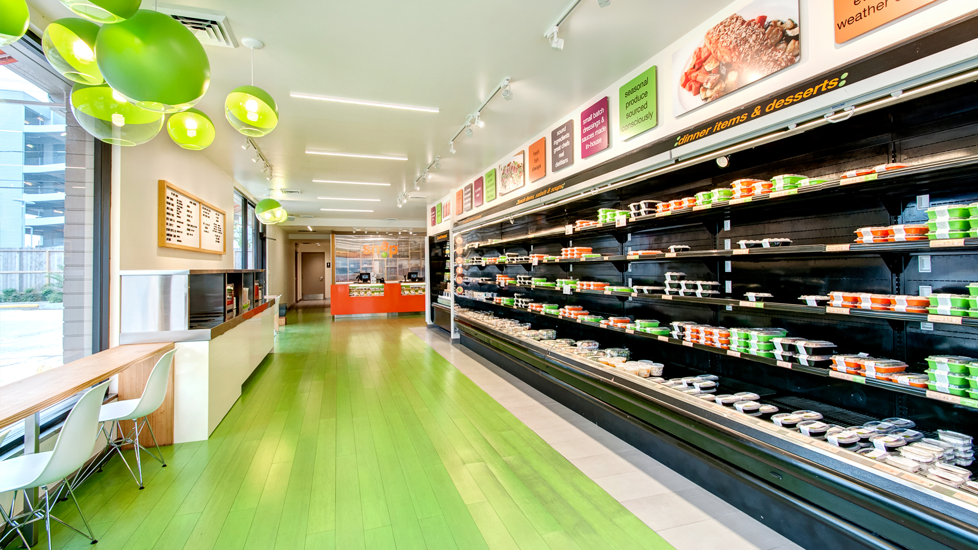 Commercial Retail Design Graphics SNAP KITCHEN HOUSTON Food Display