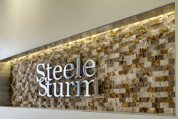 Corporate Law Interior Design Houston Steele Sturm Recessed Company Logo Niche