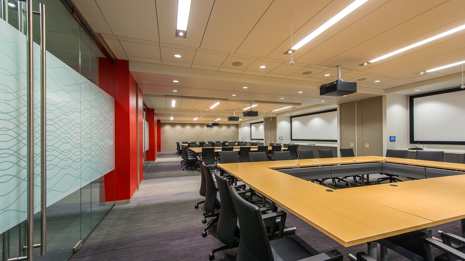 Corporate Interior Design Houston Subsea 7 Reconfigurable Conference Table Conference Room