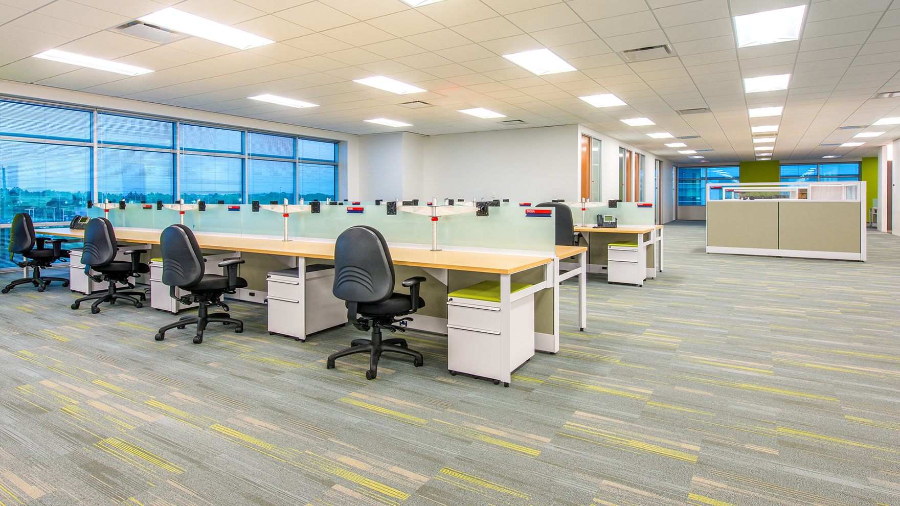 Corporate Interior Design Houston Subsea 7 Open Workstations