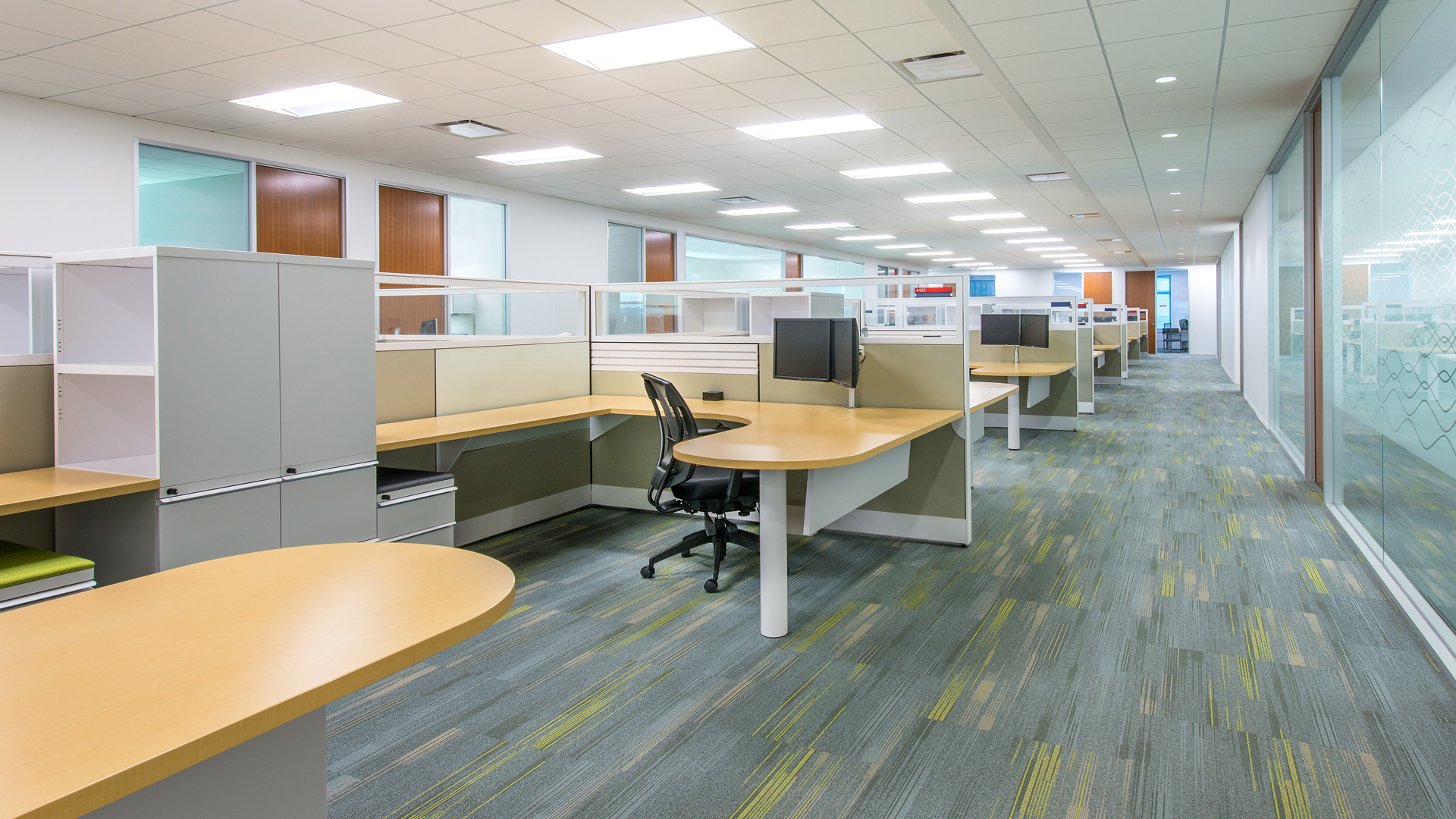 Corporate Interior Design Houston Subsea 7 Cubicle Workstations