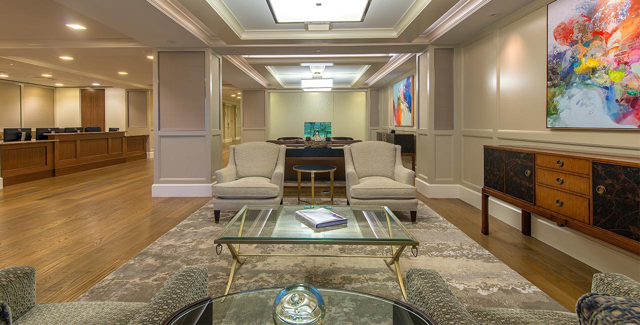 Corporate Interior Design Superior Energy Services Traditional Elegant Reception Waiting Area