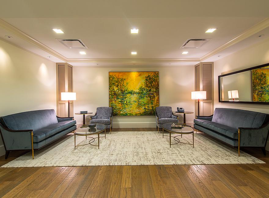 Corporate Interior Design Superior Energy Services Traditional Elegant Seating Area
