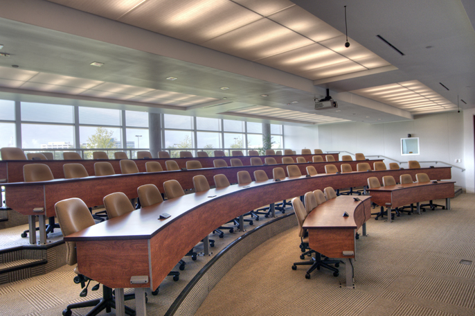 Corporate Interior Design Superior Energy Services Houston Staggered Stadium Lecture Hall