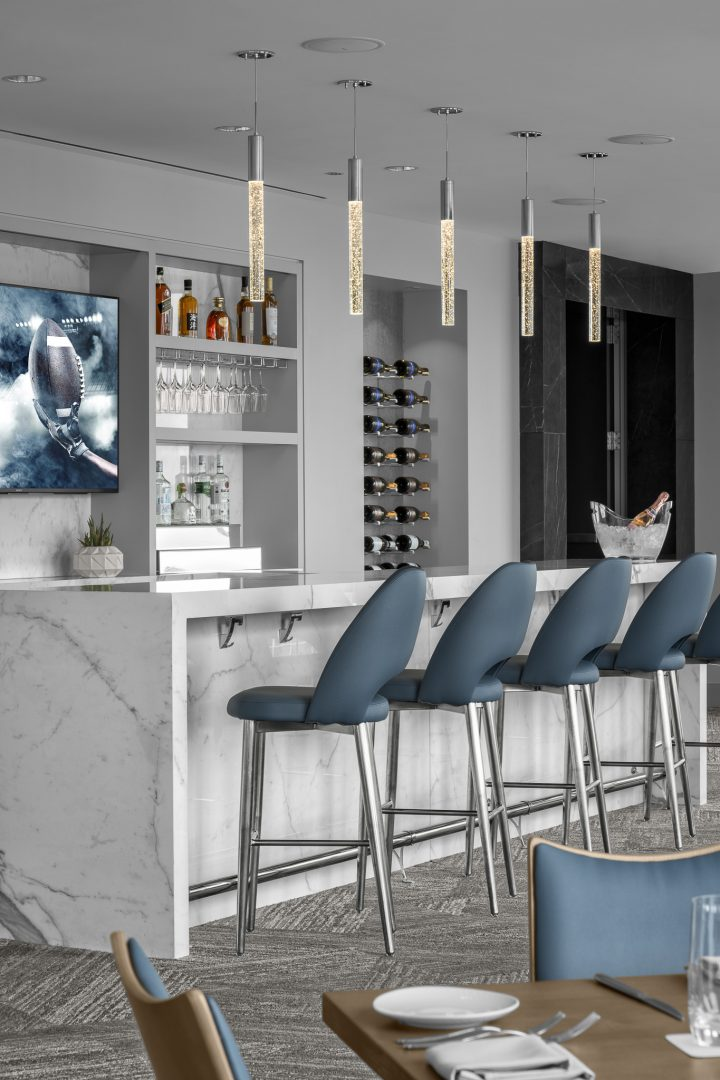 Corporate Hospitality Interior Design Restaurant Houston Strato550 Bar Seating