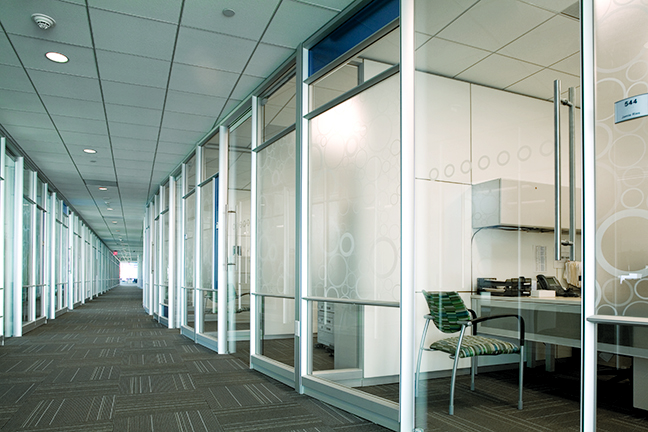 Corporate Interior Design LEED V&M Tubes Houston Glass Private Office Fronts