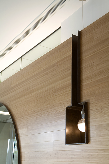 Corporate Interior Design LEED V&M Tubes Houston Square Lighting Niche