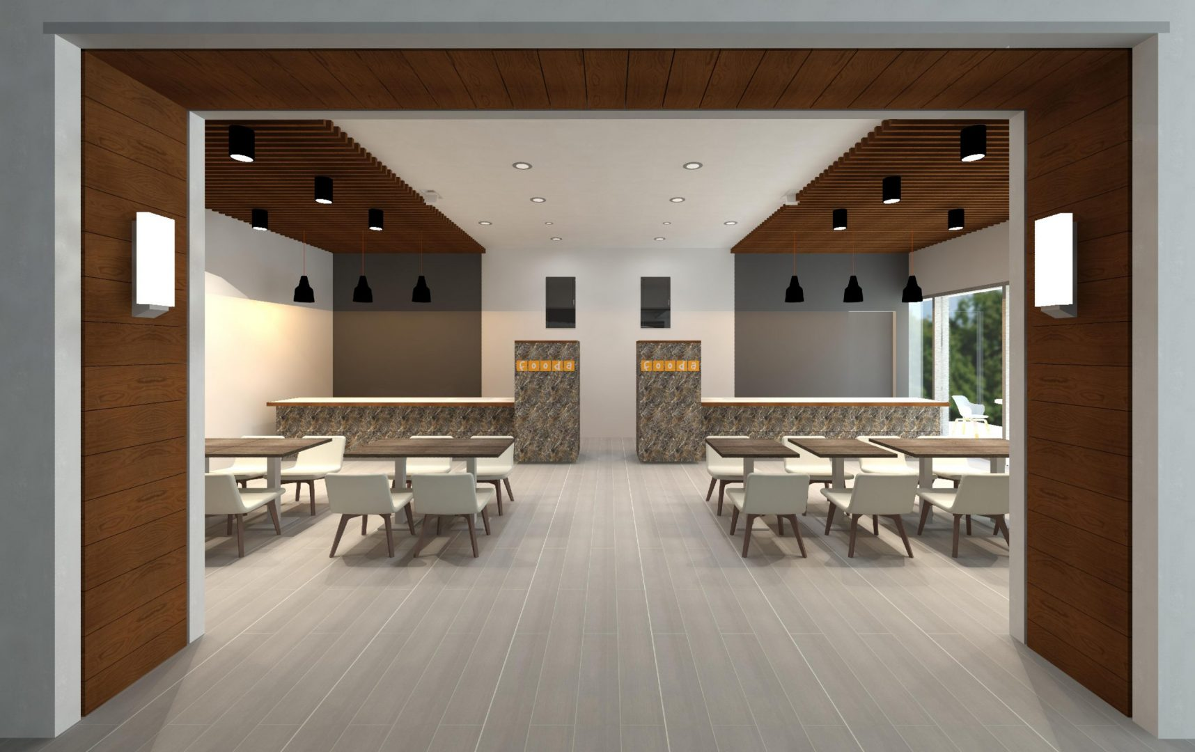 Building Repositioning Lobby Renovation Rotation Restaurants Dining Area