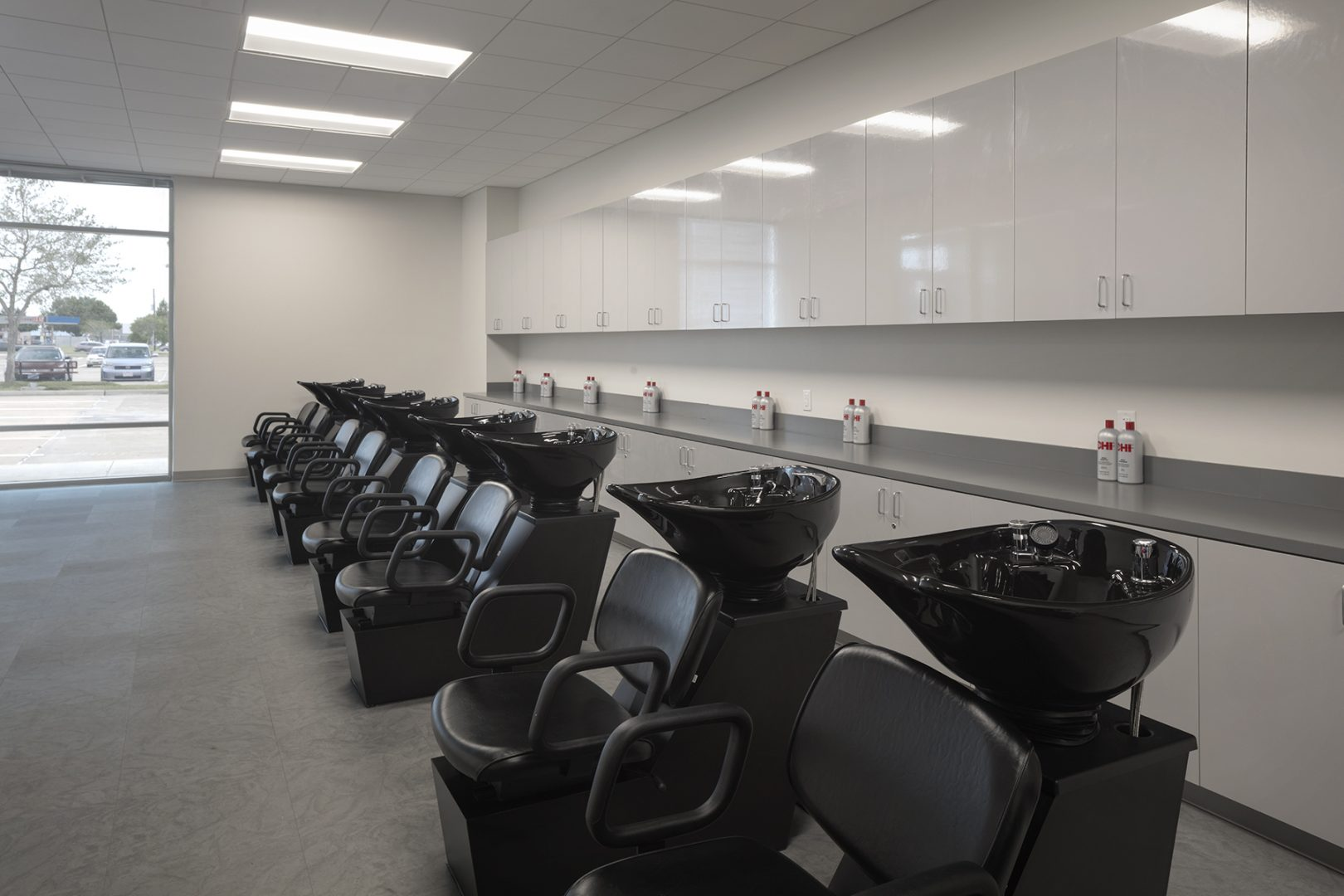 Architecture Education Design Wharton County Junior College Tech Wing Houston Hair Salon Basins