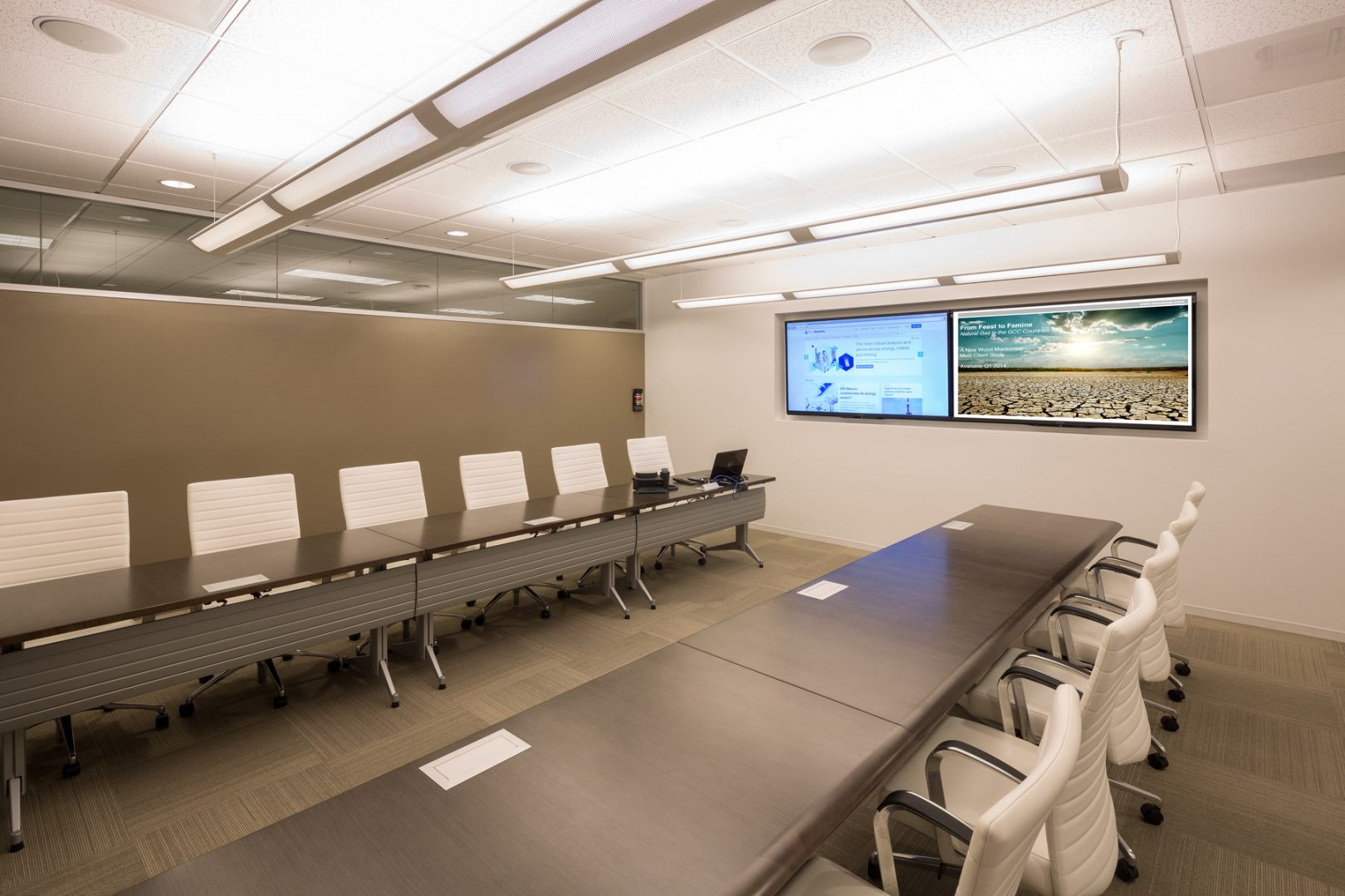 Corporate Interior Design Wood Mackenzie Houston Reconfigurable Conference Meeting Room
