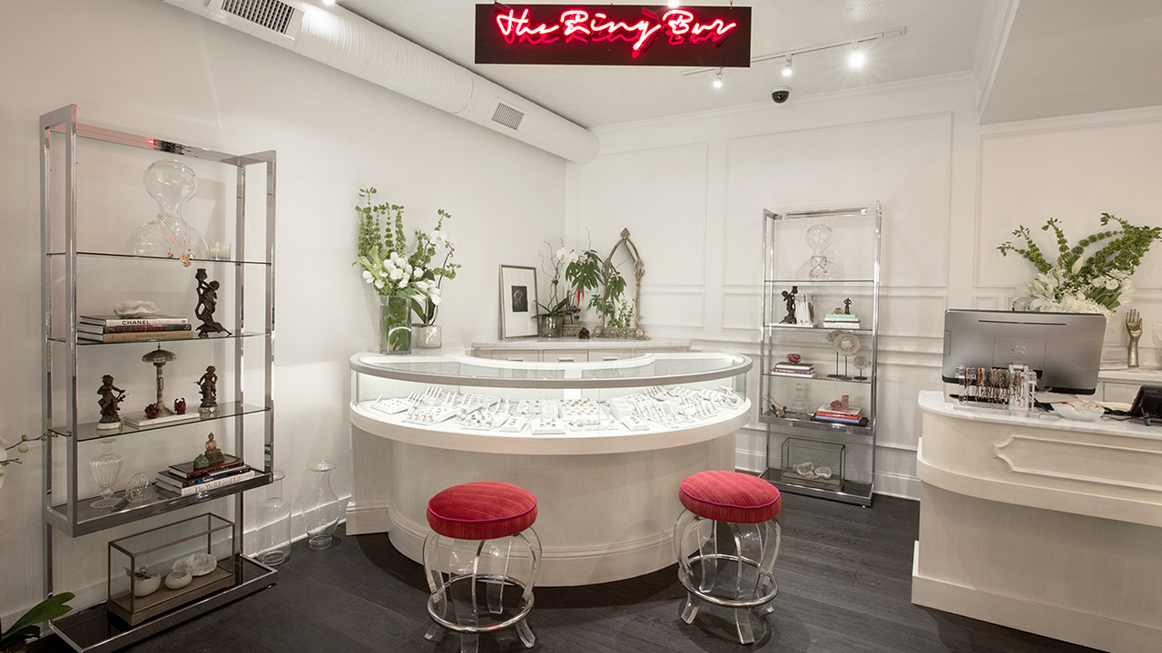 Commercial Retail Interior Design Ylang 23 Dallas Circular Display Ring Bar