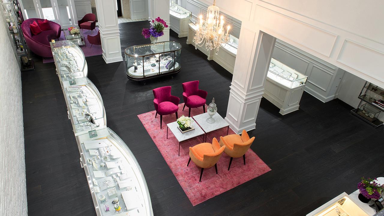 Commercial Retail Interior Design Ylang 23 Dallas Store Birds Eye View