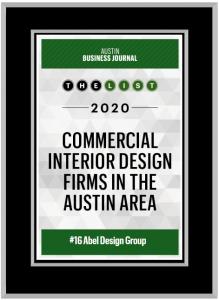 Austin-Business-Journal-Plaque-Abel-Design-Group-Commercial-Interior-Design