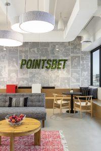 POINTSBET Corporate Interior Design Lounge Logo Wall