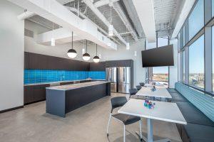 break room design Gorilla Logic Denver office