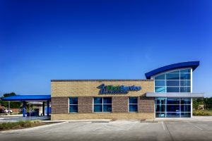 First Service Credit Union Building Architecture with Drive Thru