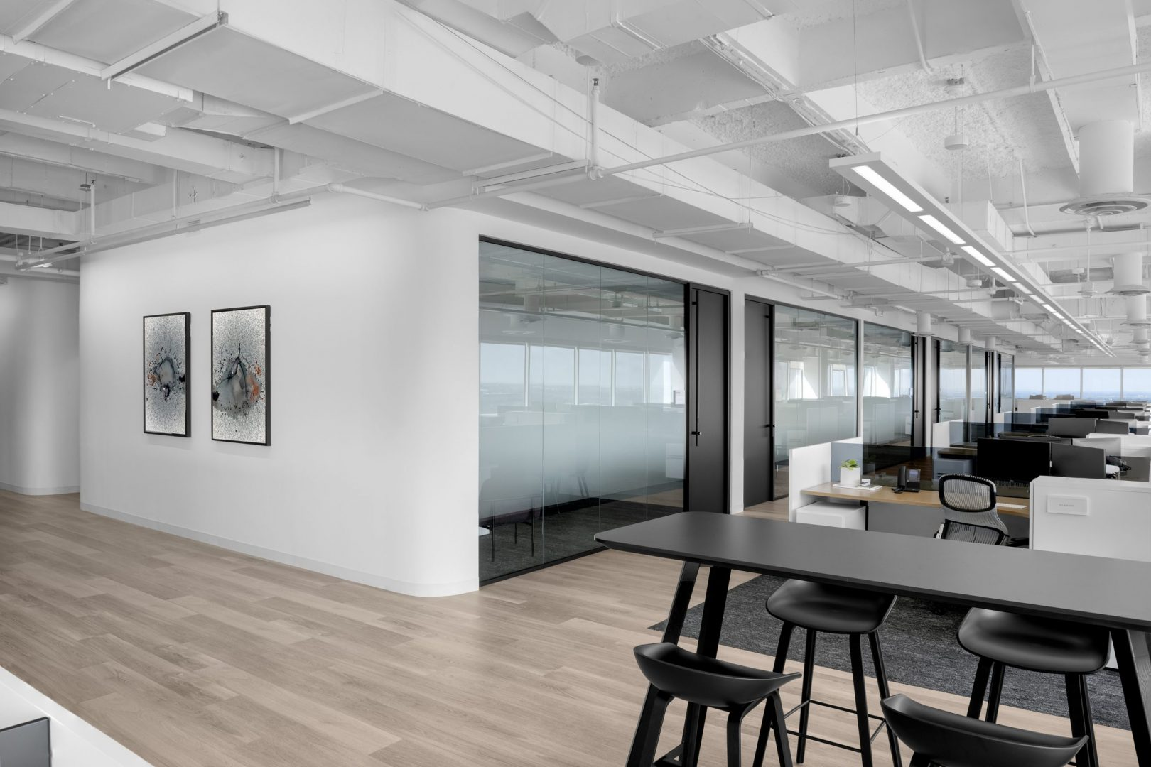 Corporate Interior Glass Front Office Design